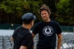 Greg Roth (Seattle Music Insider) and Steve Glum (Ace Cafe) at Marymoor Park (Photo: Jason Tang)