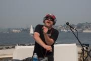 DJ Indica Jones performs on Lake Union (Photo- Christine Mitchell)