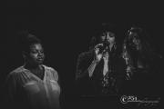 Stephanie Ann Johnson, Sarah Gerritsen & Carina Lewis (w/Brad Loomis) @ The Triple Door 3-19-17 (Photo By: Mocha Charlie)