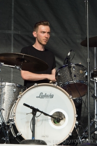 Montreal, Canada based Ought performs at Sasquatch! Photo by John Lill