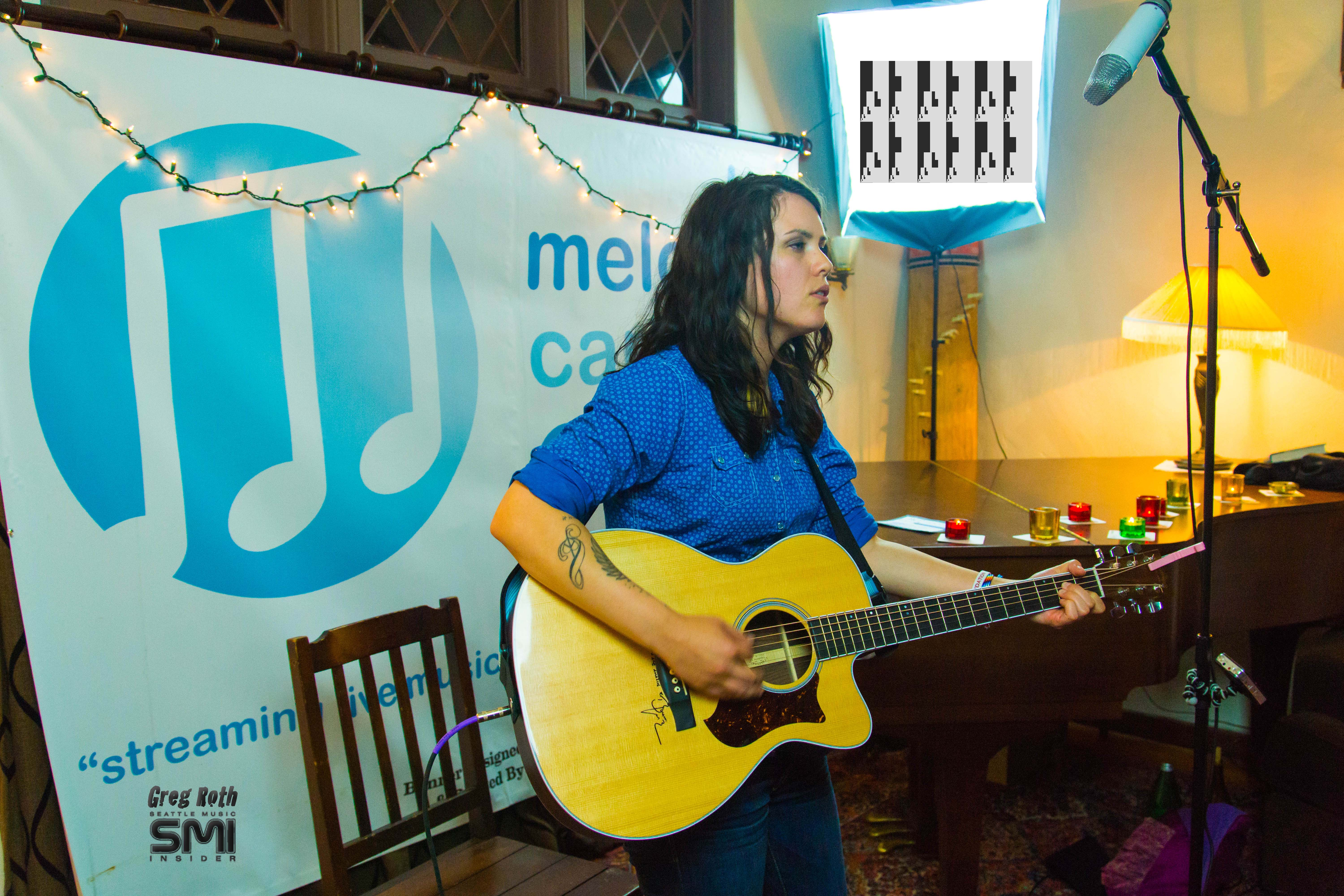 Kate Lynne Logan @ Seattle Living Room Show and Melodic Caring Project (9/15/12) Photo By Greg Roth