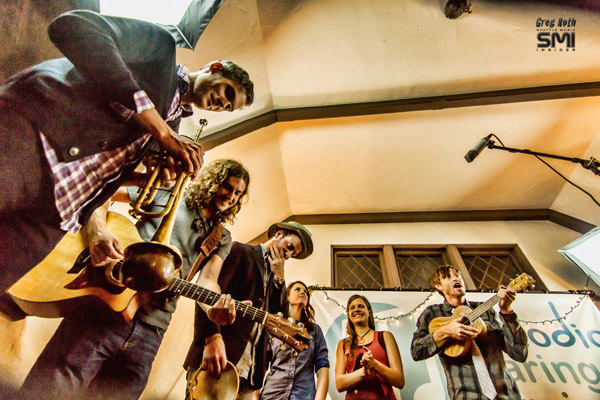 Michel Navedo, Pepper Proud, Sam Watts, Kate Lynne Logan, Andrew Vait & Levi Ware @ Seattle Living Room Show and Melodic Caring Project (9/15/12) Photo By Greg Roth