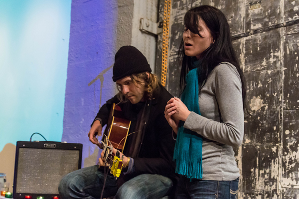 Seattle Living Room Shows and Melodic Caring Project: Daniel Blue w/ Anna-Lynne Williams (Photo by Greg Roth)