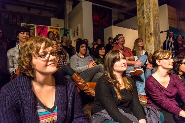 Seattle Living Room Shows and Melodic Caring Project (Photo by Greg Roth)