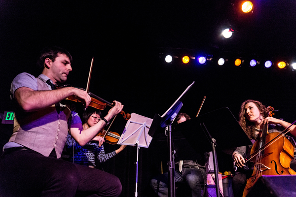 Andrew Joslyn and The Passenger String Quartet Live at Showbox @ The Market – 2/23/13 (Photo by Greg Roth)