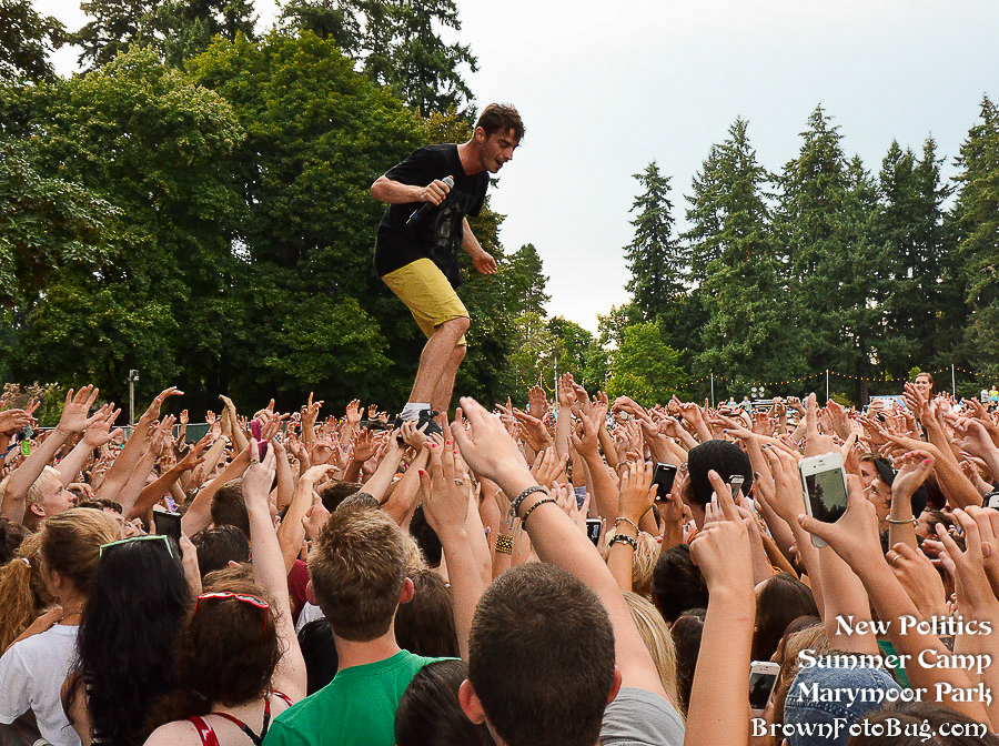 New Politics @ 107.7 The End's Summer Camp 2013 (Photo by Arlene Brown)
