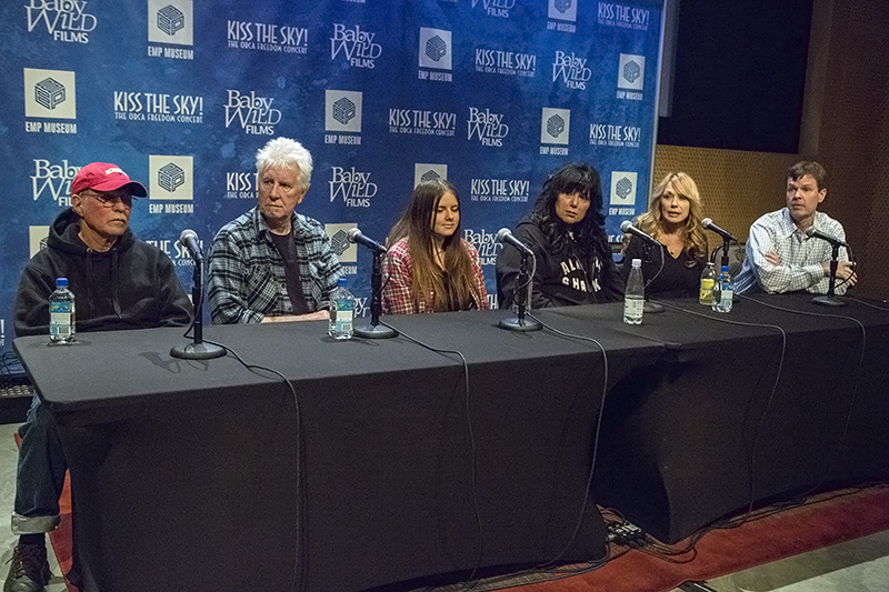 Kiss the Sky! Press Conference at EMP (Photo by Alex Crick)