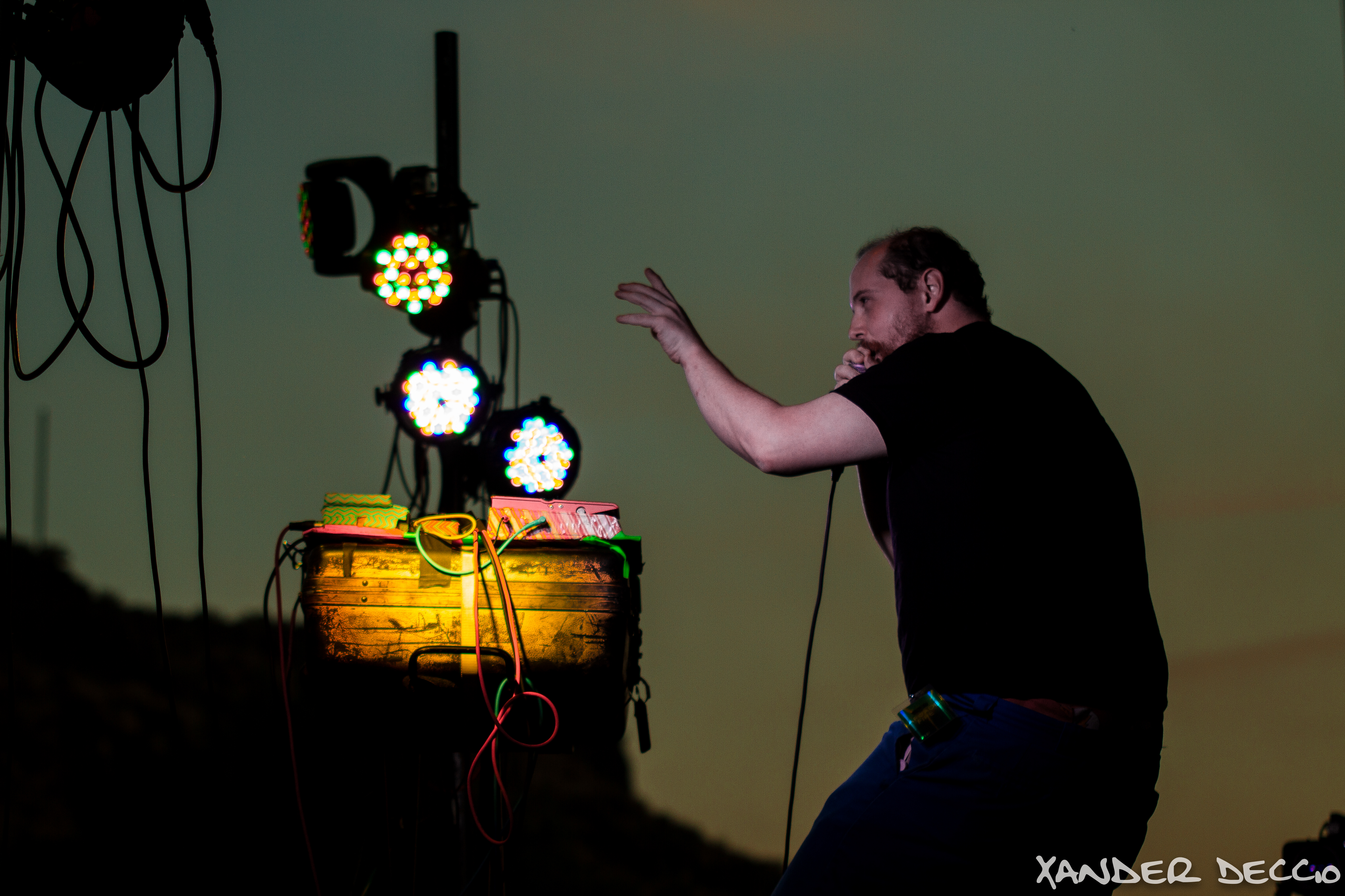 Dan Deacon Live at The Gorge (Photo by Xander Deccio)