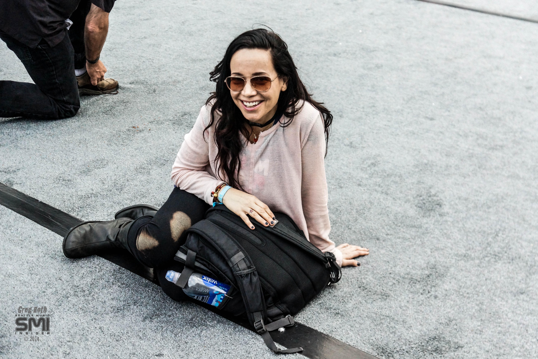 Janeane Garofalo enjoying The Replacements (Photo by Greg Roth)