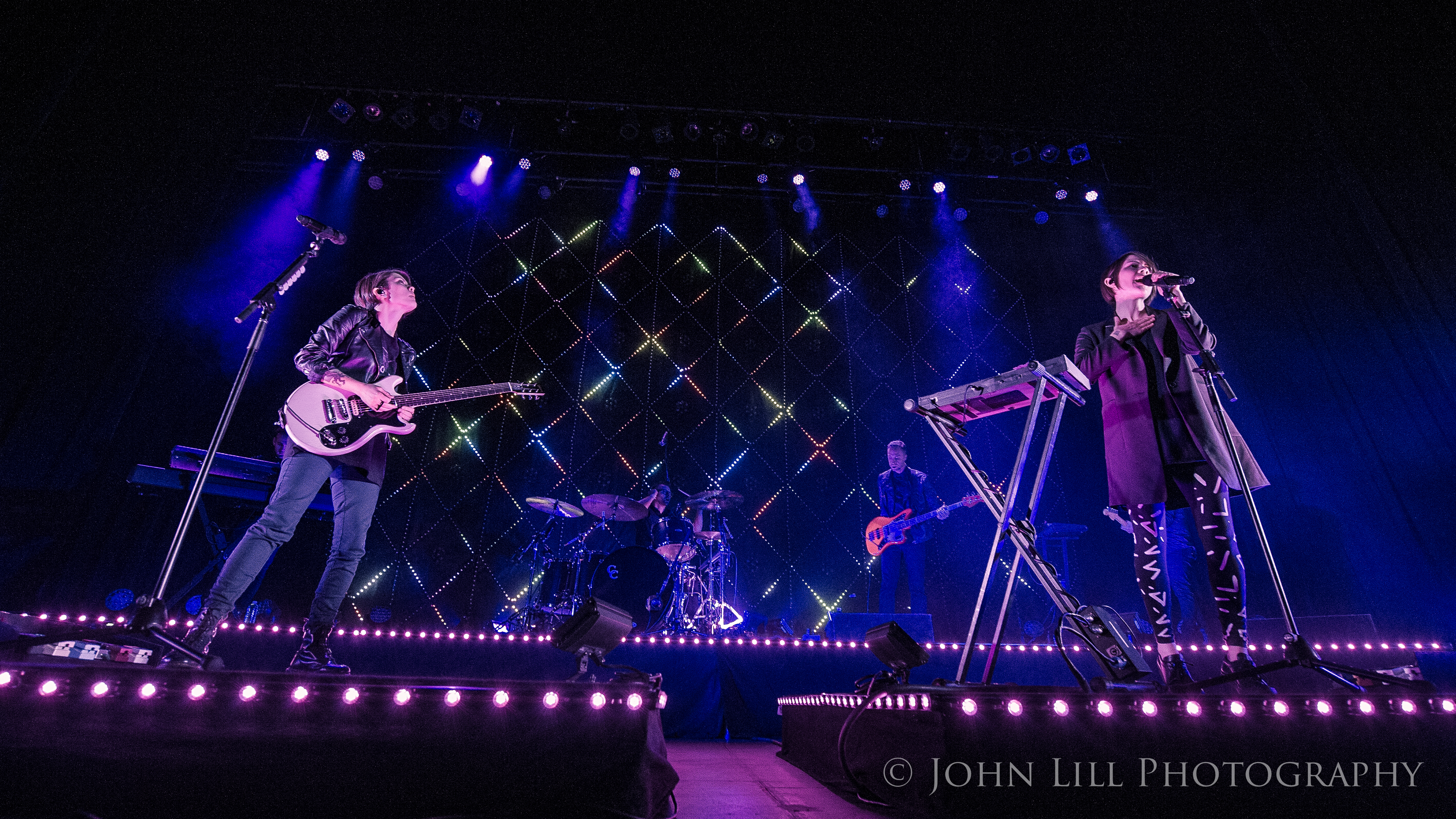 Tegan and Sara perform at the Paramount Theatre in Seattle. Photo by John Lill