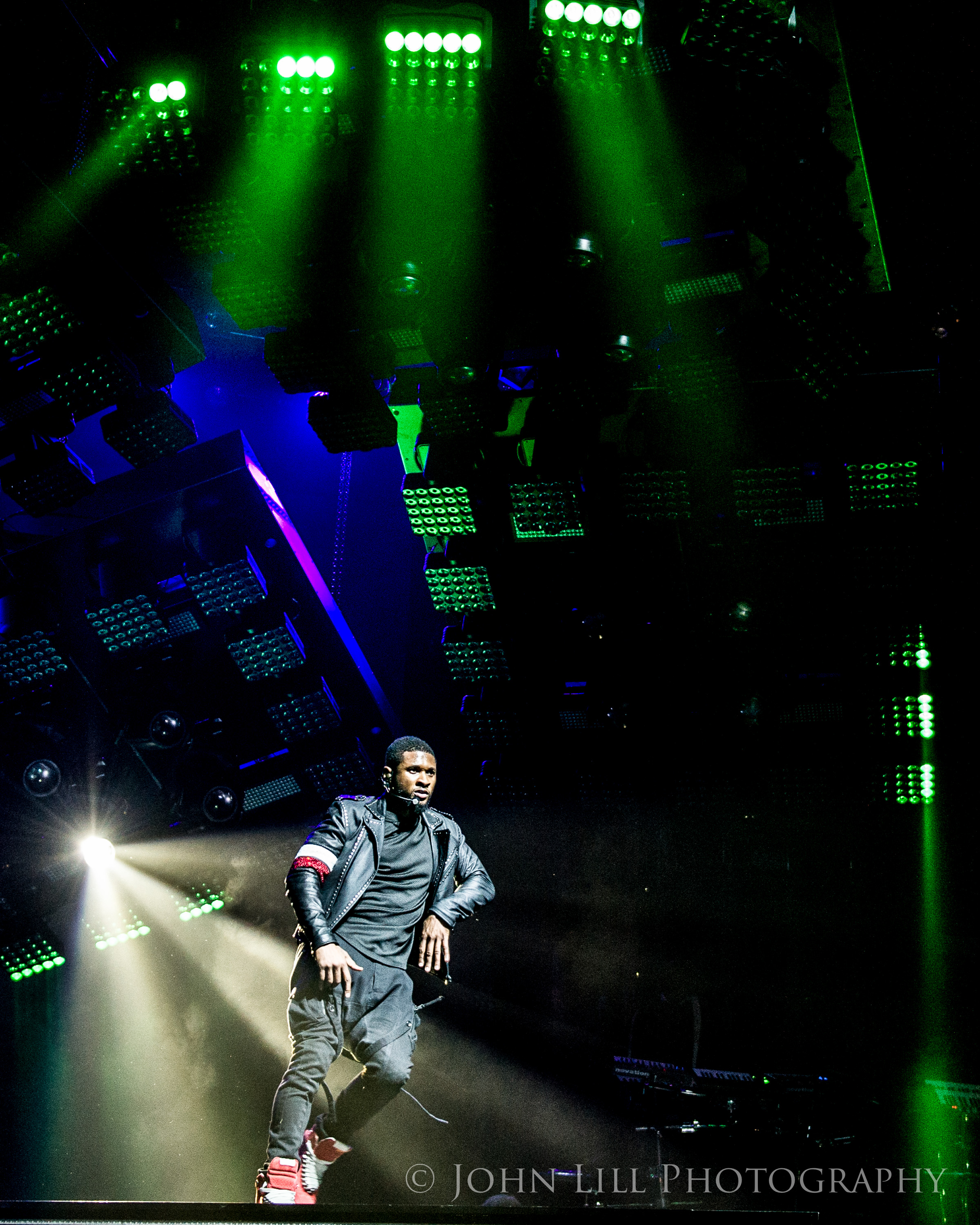 Usher performs at Key Arena. Photo by John Lill