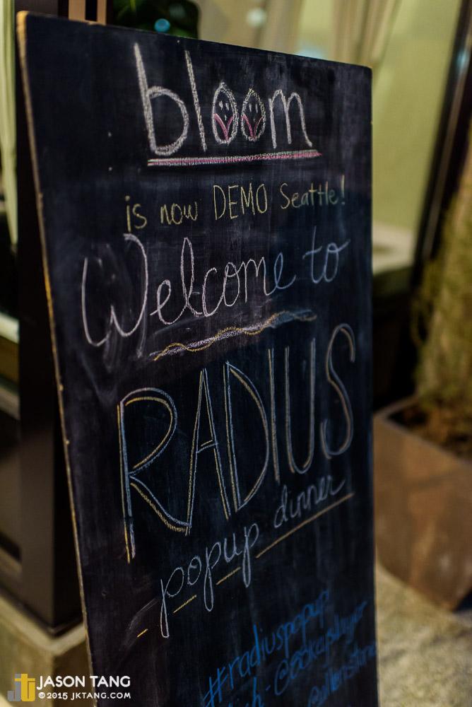 2015.04.15: Radius Pop-Up Dinner @ Demo, Seattle, WA