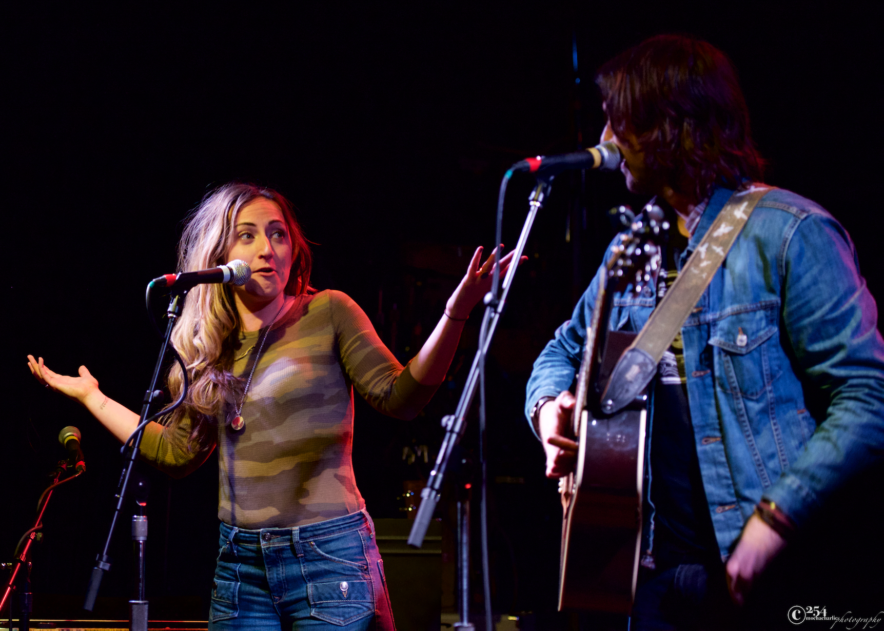 Bradley Laina & Taylor Lynn of Vaudeville Etiquette at The Tractor Tavern (Photo by Mocha Charlie)
