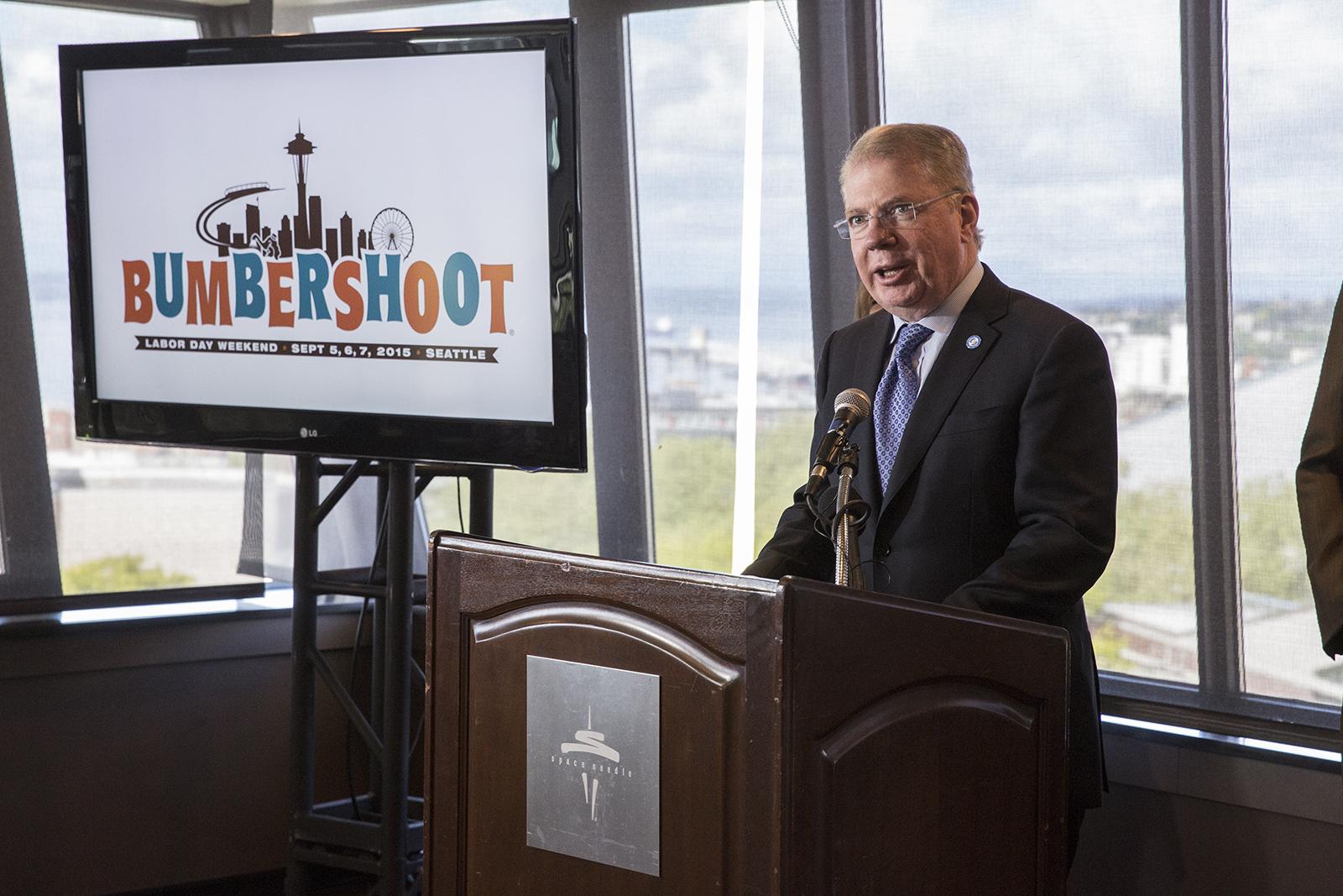 Mayor Ed Murray Bumbershoot 2015 Announcement  Photo by Alex Crick