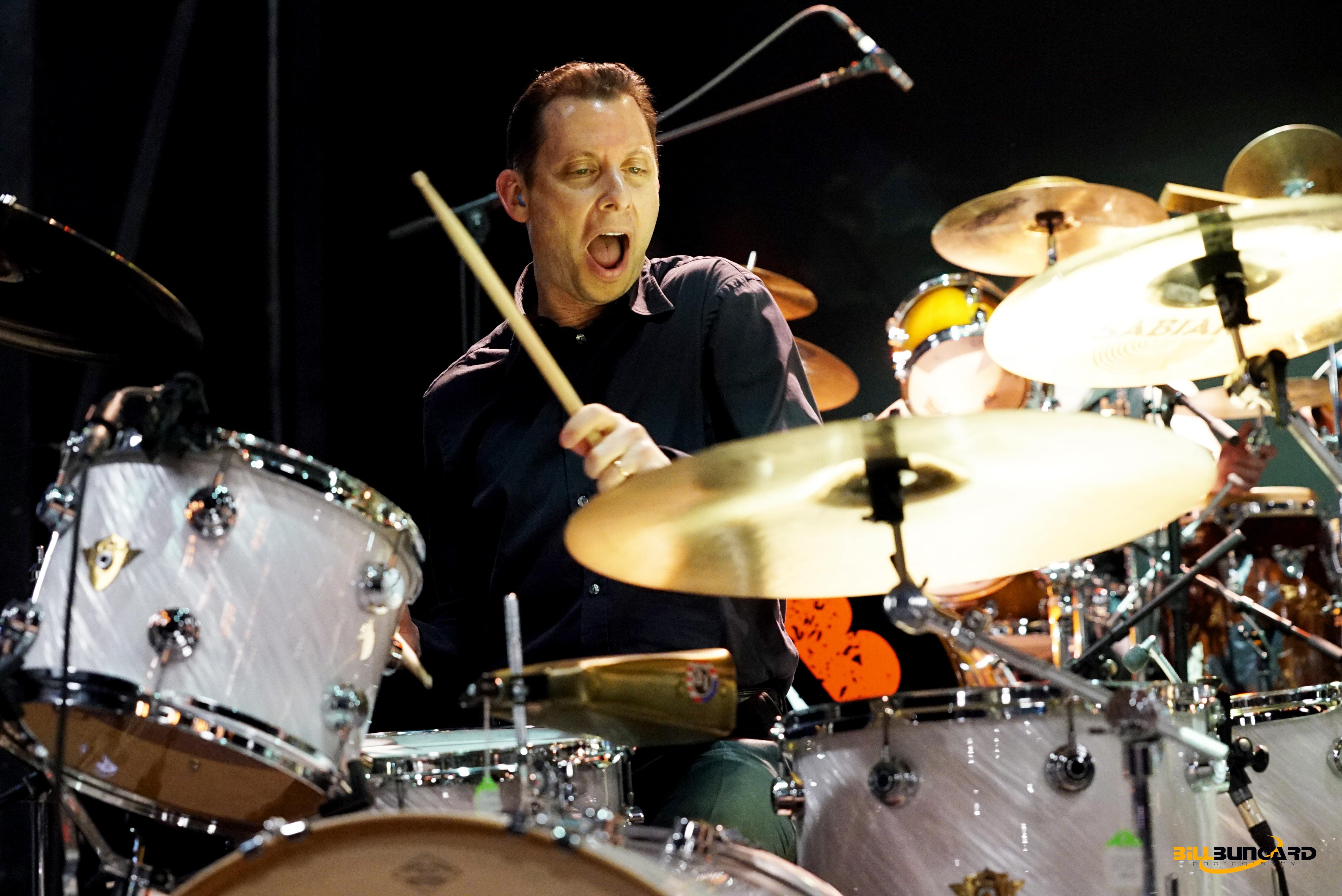 Daniel Glass of Brian Setzer Orchestra at Woodstick 2015 (Photo by Bill Bungard)