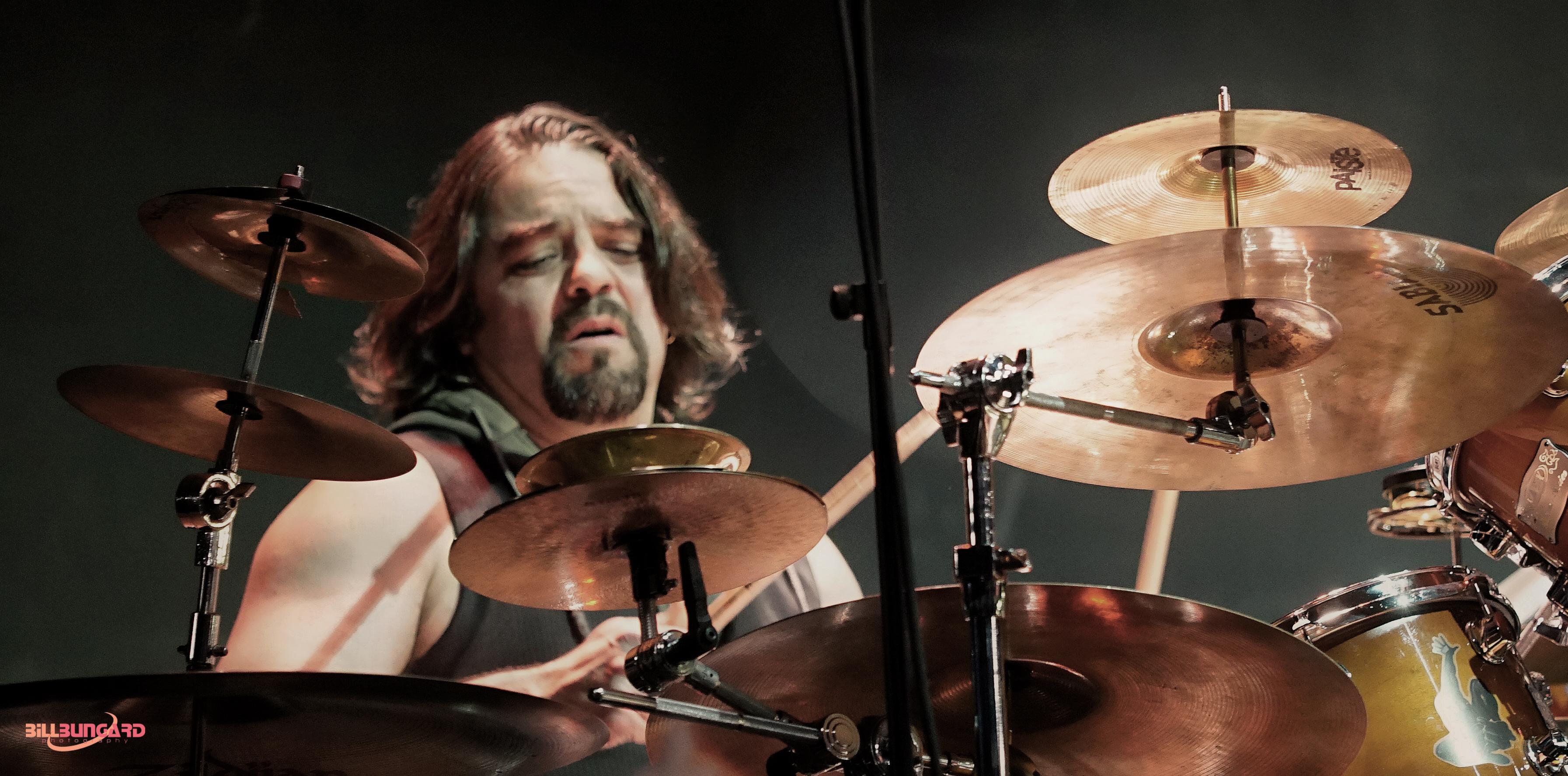 Eddie Mendoza of Aury Moor Band at Woodstick 2015 (Photo by Bill Bungard)