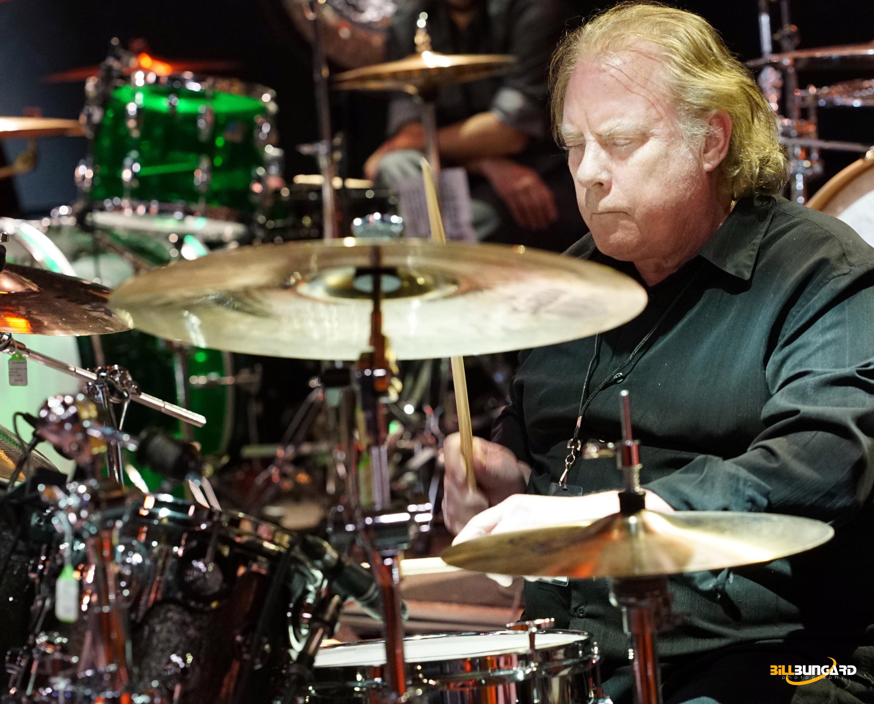 Michael Shrieve of Santana at Woodstick 2015 (Photo by Bill Bungard)