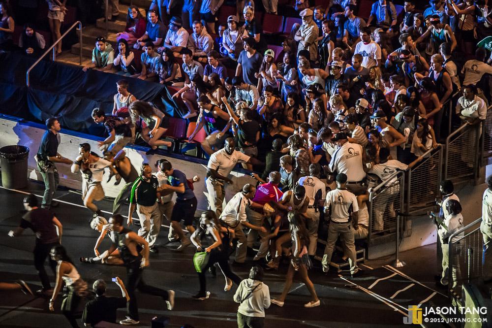 2012.09.03: M83 fans bum-rush security @ Bumbershoot - Mainstage